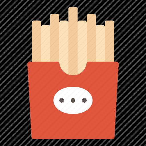 fastfood, french, fried, potato, snack icon