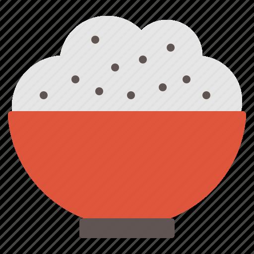 bowl, cuisine, dish, food, rice icon