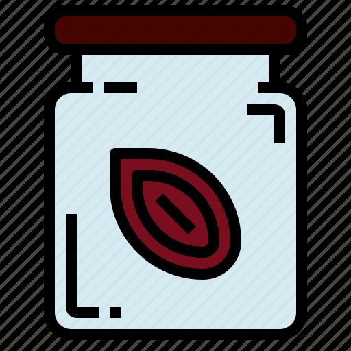 almond, bean, seed icon