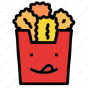 chicken, nuggets icon