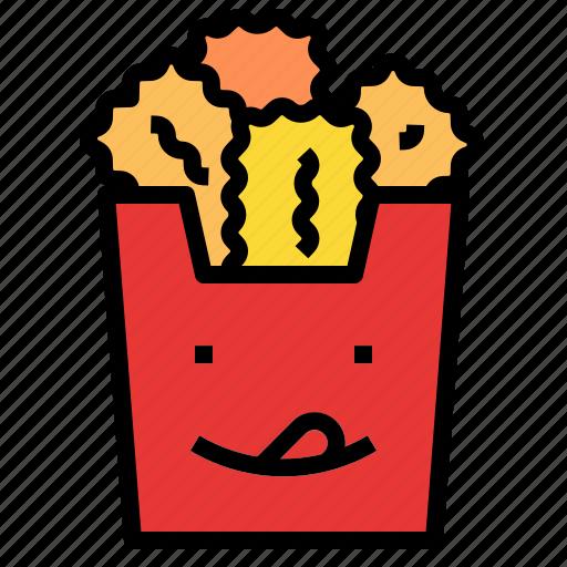 chicken, nuggets icon
