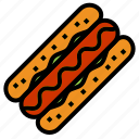 burger, hotdog icon