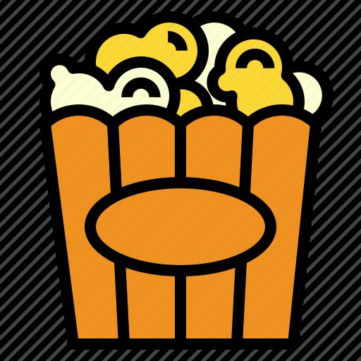 corn, movie, popcorn icon