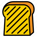bread, slice, toast icon