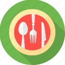 dining, dinner, eat, eating, plate, restaurant icon