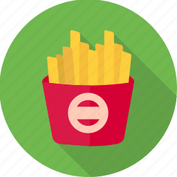 fast food, finger chips, food, french fries, fries, potato fries, snacks icon