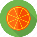 food, fruit, lemon, lemon slice, orange, orange slice, slice icon