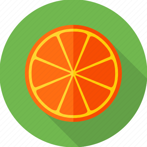 food, fruit, lemon, lemon slice, orange, orange slice, slice icon