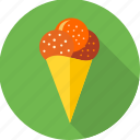 cone, dessert, ice cream, icecream, soft cone, sweet icon