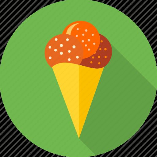 cone, dessert, ice cream, icecream, soft cone, sweet icon