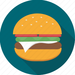 burger, fast food, food, hamburger, snack icon