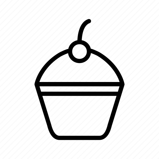 beverage, cake, cupcake, dessert, food, menu icon