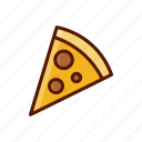 beverage, dessert, food, menu, pizza, slice icon