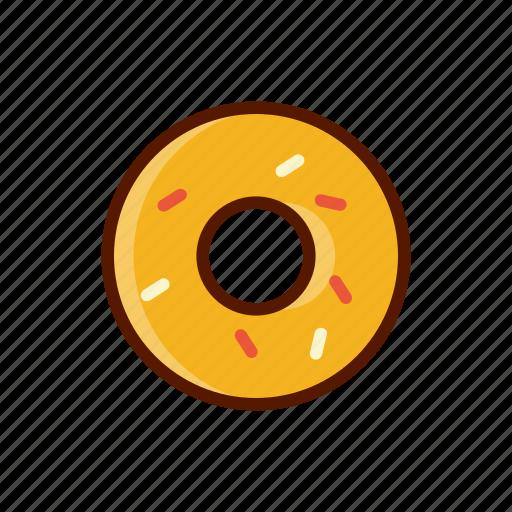 beverage, dessert, donut, food, menu icon
