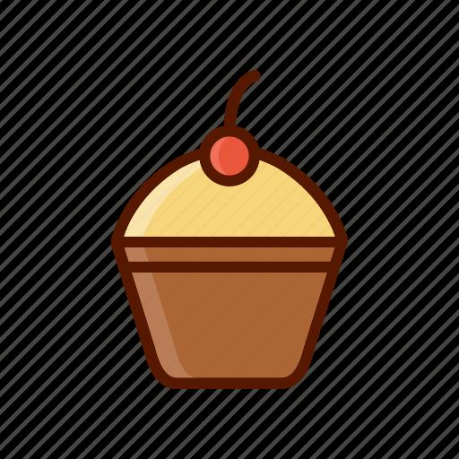 beverage, cake, cupcake, dessert, food, menu icon