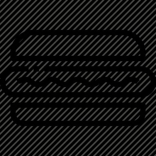 hotdog, menu, restaurant, sign icon