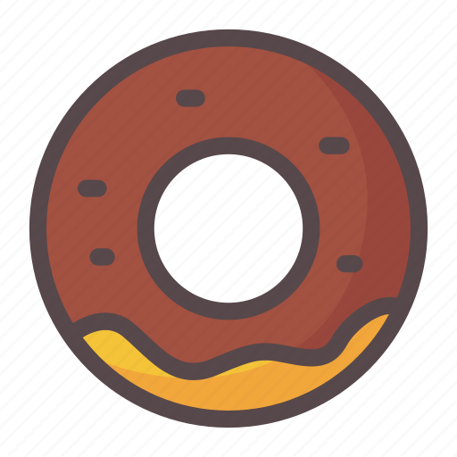 bread, chocolate, donuts, food icon