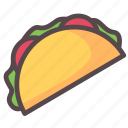 american, food, mexico, tacos icon