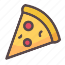 food, junk food, pizza, slice icon
