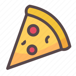 food, junk food, pizza, slice icon