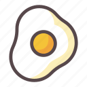chicken, egg, food, fried