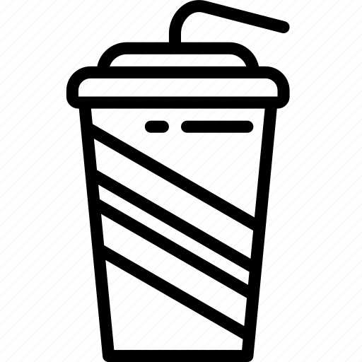 cup, drink, food, straw, takeaway icon