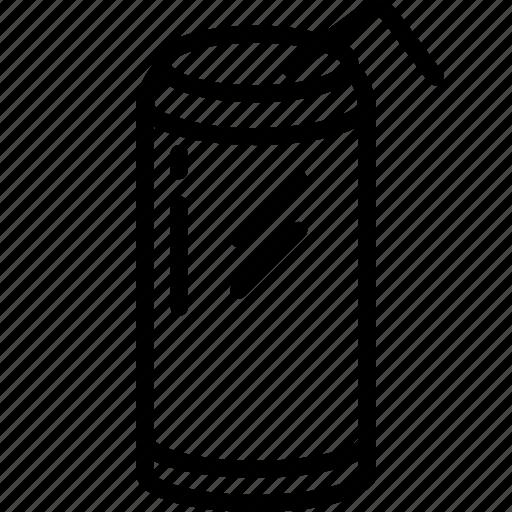can, drink, food, pop, soda, straw, tin icon