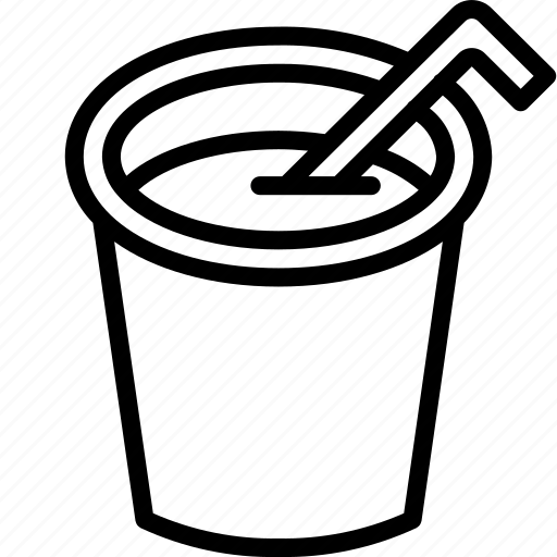 Cup, drink, food, juice, straw icon - Download on Iconfinder
