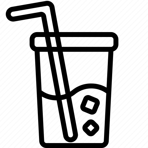 cup, drink, food, iced, straw icon