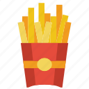 and, food, drink, fries, french, takeaway, chips icon