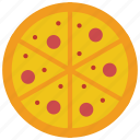 and, slice, food, drink, pepperoni, takeaway, pizza icon