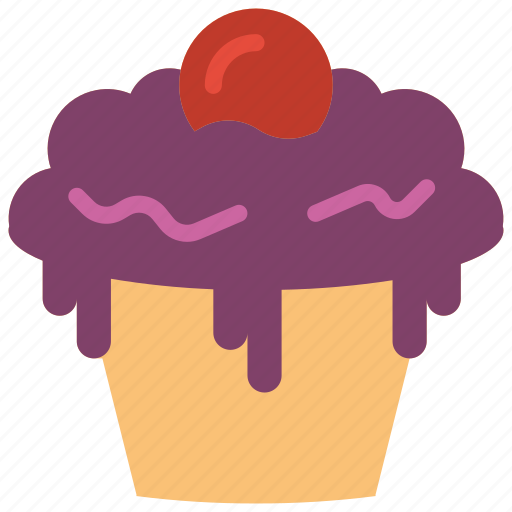 and, cupcake, dessert, drink, food, iced icon