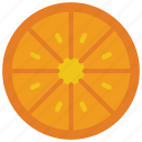 and, drink, food, fruit, orange, slice icon