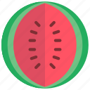 and, food, drink, fruit, watermelon, melon icon
