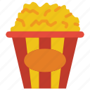 and, snack, cinema, food, drink, movies, popcorn icon