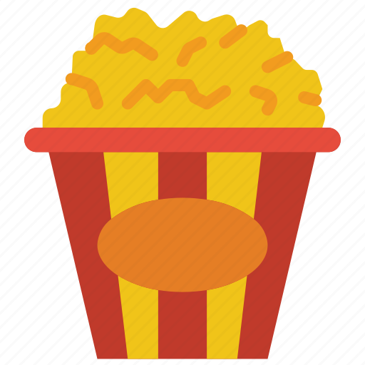 and, cinema, drink, food, movies, popcorn, snack icon