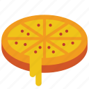 and, cheese, deep, drink, food, pan, pizza icon