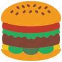 and, cheese, food, drink, pounder, burger, quarter icon