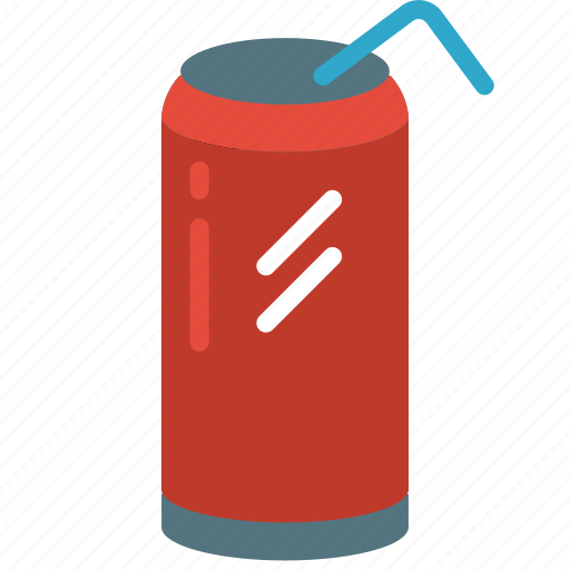 and, can, drink, food, pop, soda, straw icon