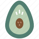 and, food, drink, avocado, veg, fruit icon