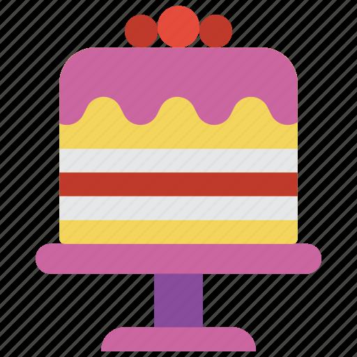 and, birthday, cake, dessert, drink, food, wedding icon