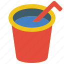 and, cup, food, drink, juice, straw icon