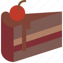 and, cake, dessert, drink, food, pudding, slice icon