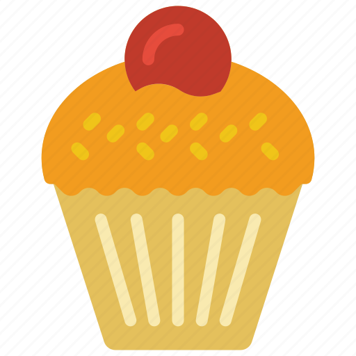 and, cake, cupcake, dessert, drink, food, iced icon