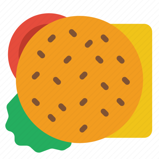 and, burger, cheese, drink, food, salad, sandwich icon