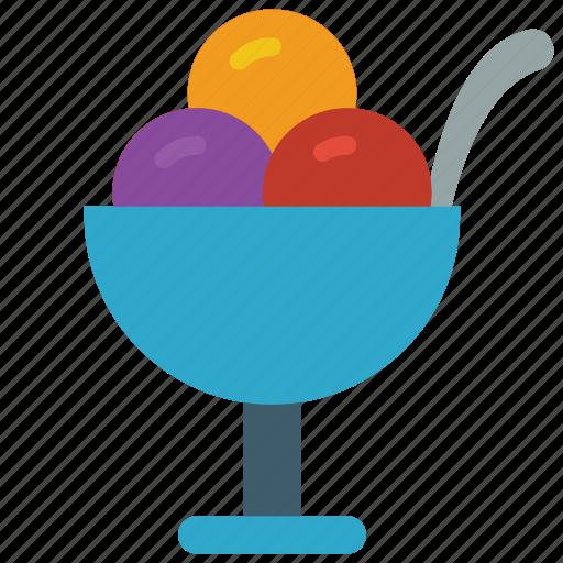 cream, dessert, drink, food, ice, pudding, sunday icon