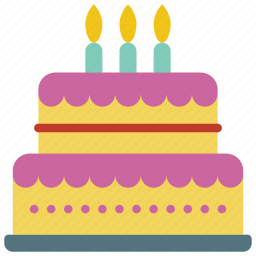 and, birthday, cake, candles, dessert, drink, food icon