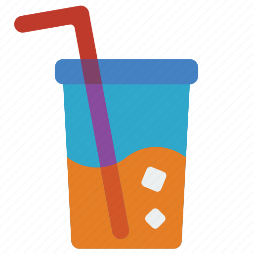 and, cup, drink, food, juice, pop, straw icon