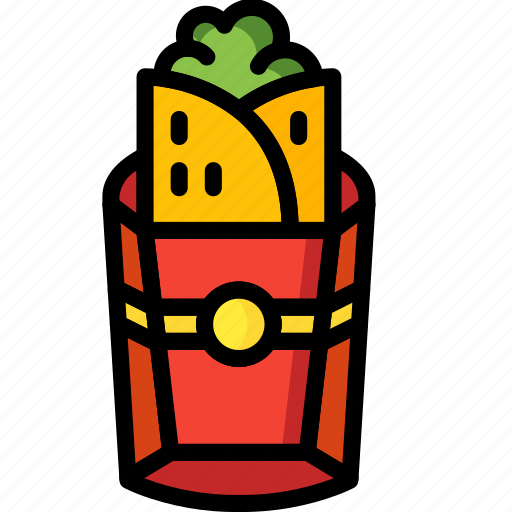 And, burrito, drink, food, mexican, takeaway, wrap icon - Download on Iconfinder