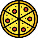 and, drink, food, pepperoni, pizza, slice, takeaway icon